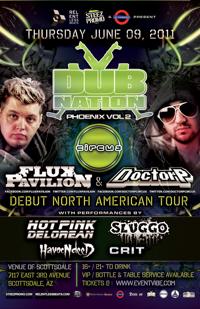 Dub Nation Vol.2 ft. Flux Pavilion and Doctor P on 06/09/11