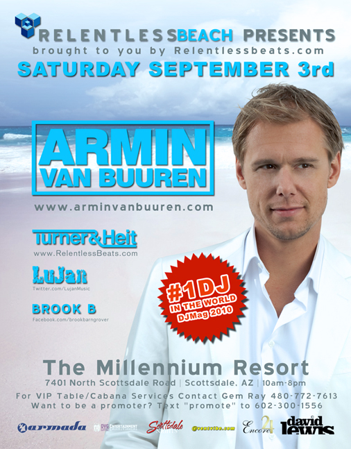 Armin van Buuren @ Relentless Beach on 09/03/11