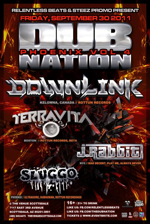 DUB NATION vol.4 ft. Downlink, Terravita, J Rabbit on 09/30/11