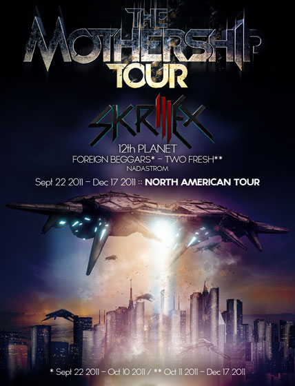 Skrillex - The Mothership Tour on 10/30/11