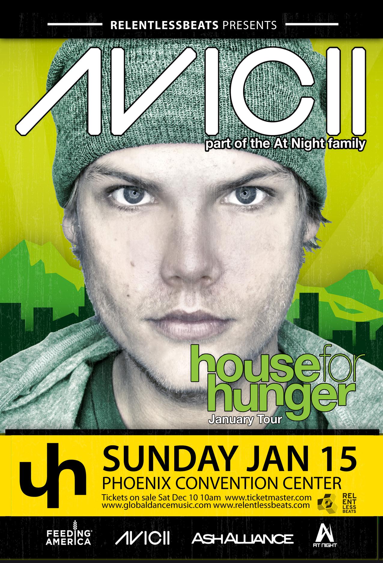 House for Hunger Tour ft. Avicii on 01/15/12