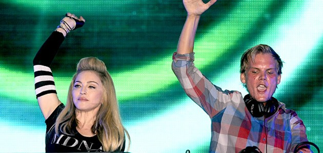 Madonna and Avicii at Ultra Music Festival 2012