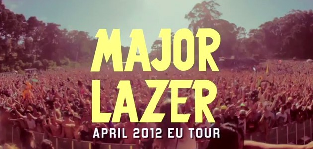 Major Lazer European Tour 2012