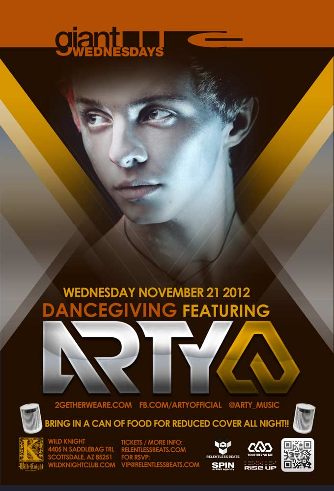Arty @ DANCEgiving on 11/21/12