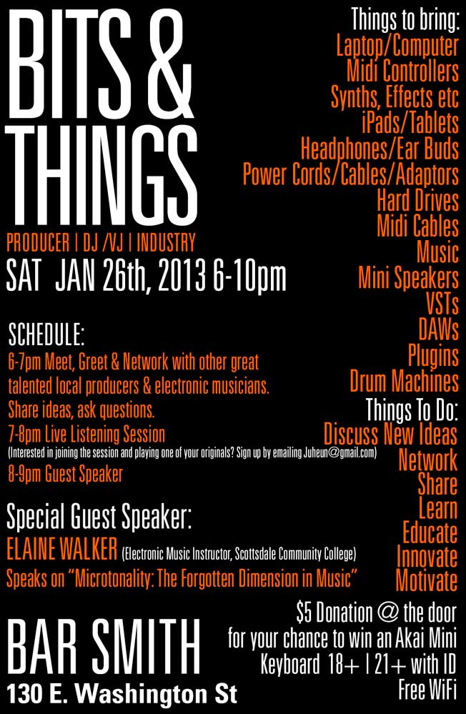 Bits & Things - January 26 at Bar Smith