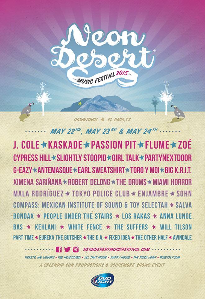 Neon Desert Music Festival 2020.Neon Desert Music Festival El Paso Info 05 22 15