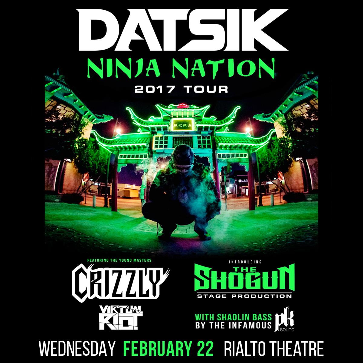 Flyer for Datsik - Ninja Nation