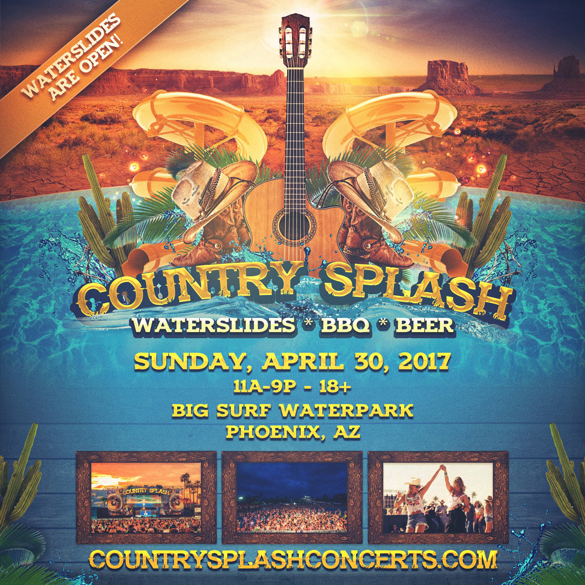 Flyer for Country Splash
