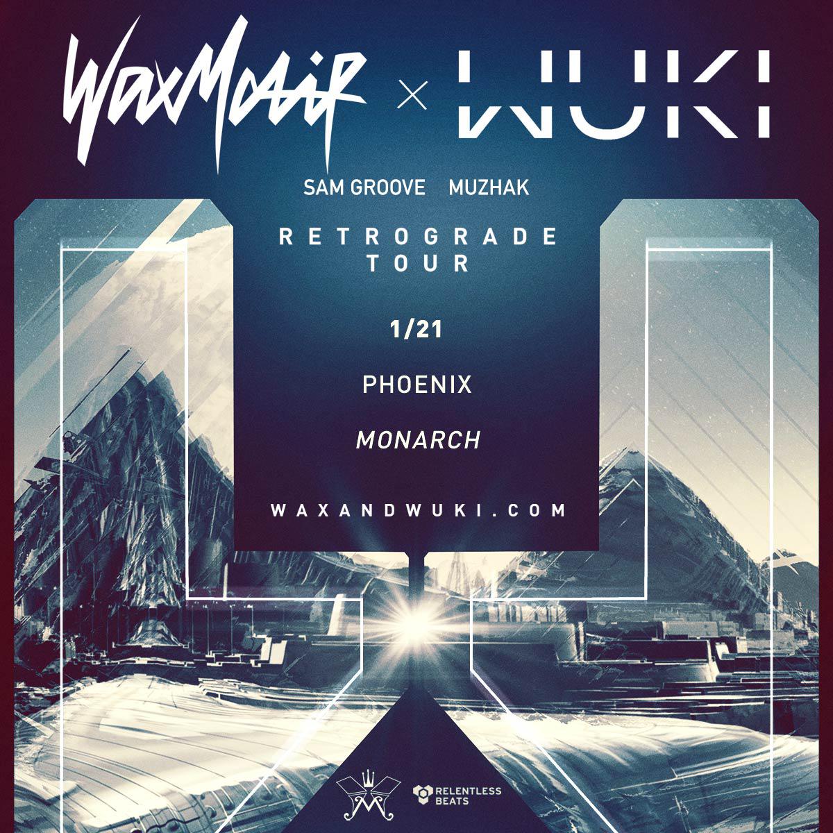 Flyer for Wax Motif + Wuki