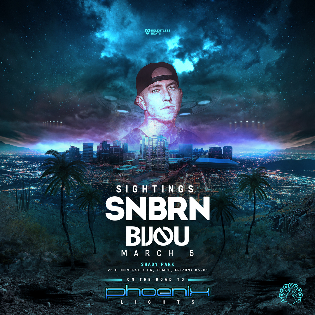 Flyer for SNBRN - Sightings: On The Road To Phoenix Lights