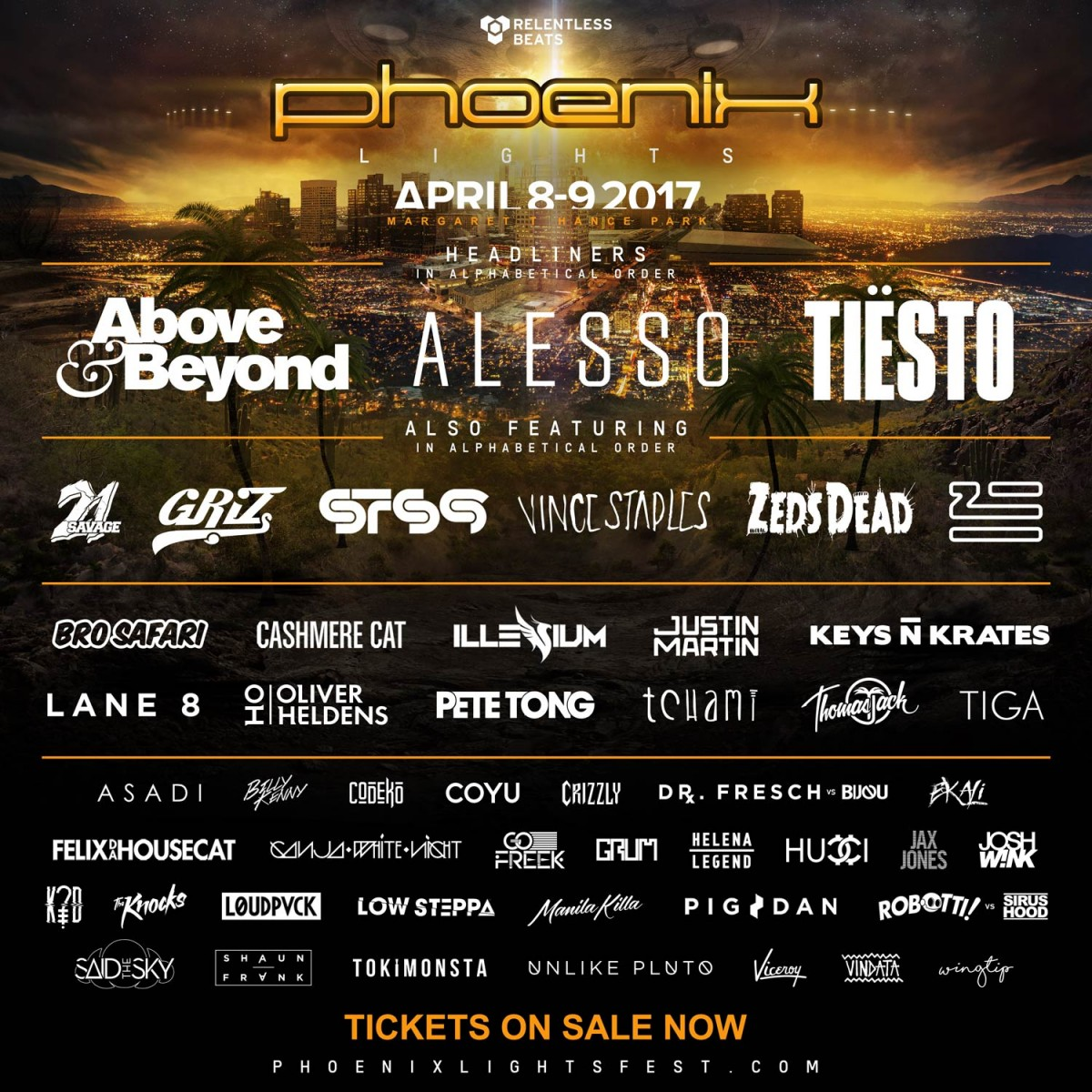 Flyer for Phoenix Lights 2017