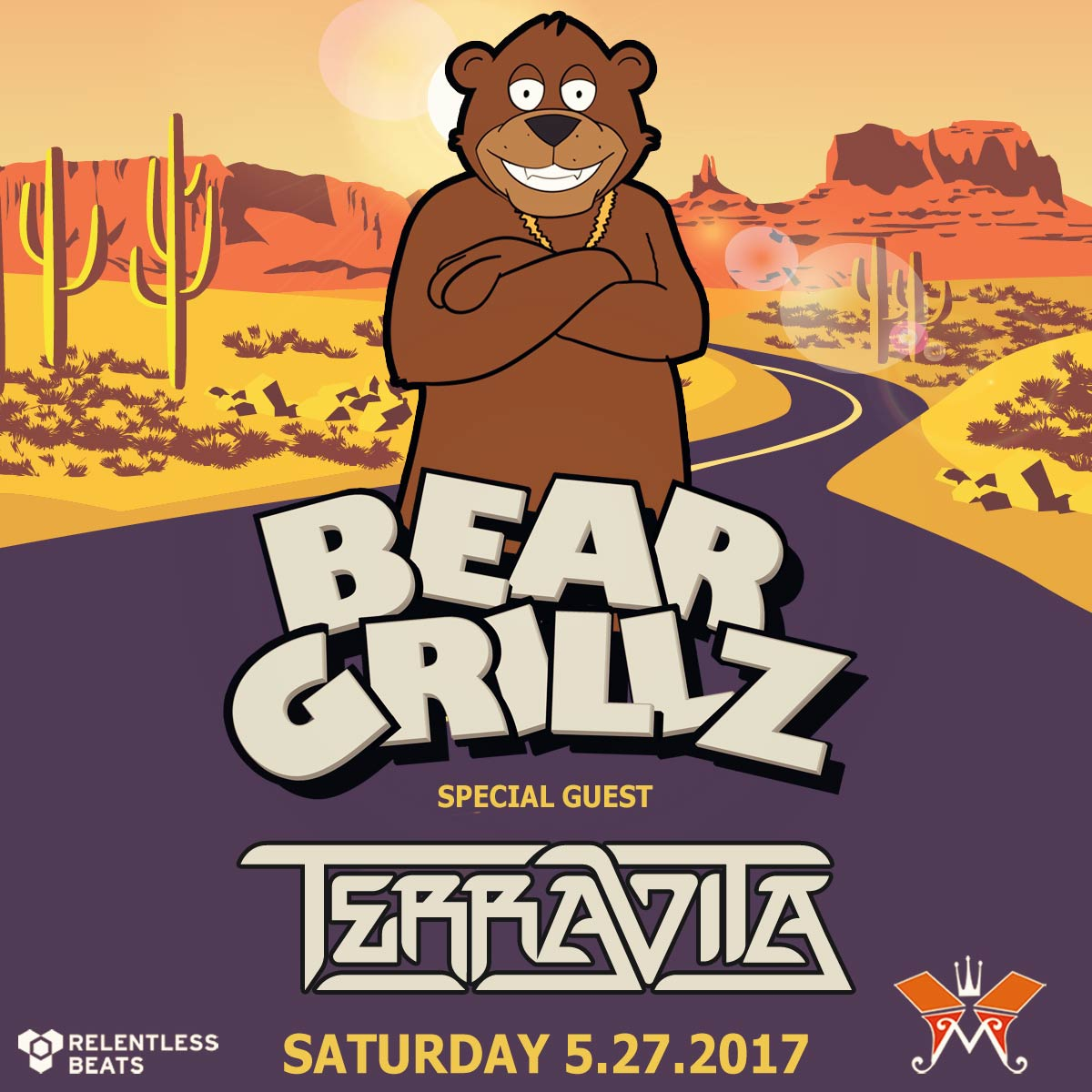 Flyer for Bear Grillz + Terravita