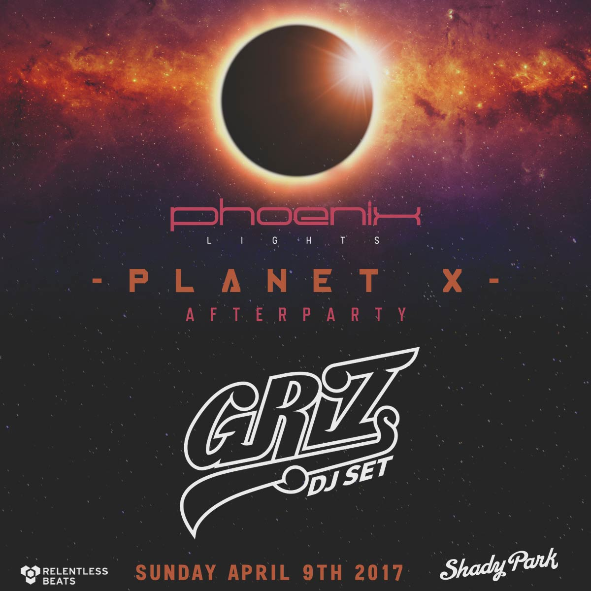 Flyer for Griz - Planet X