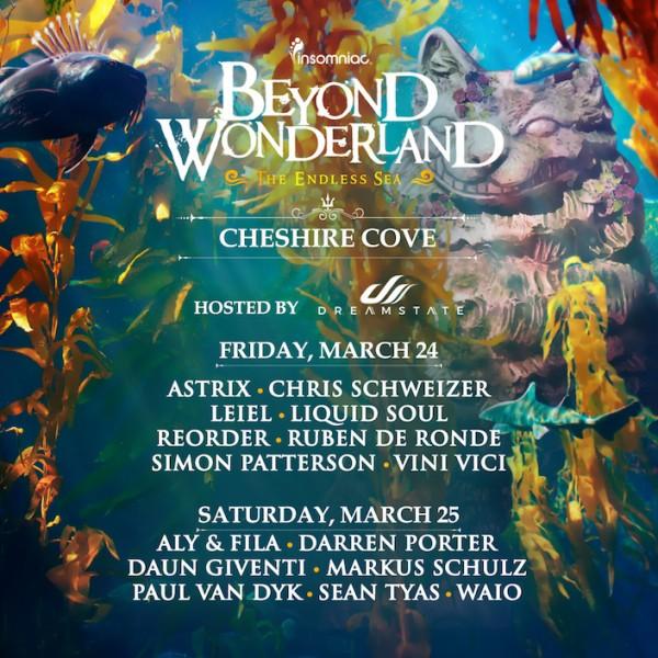 BW Cheshire Cove lineup