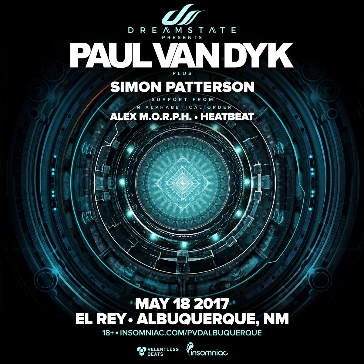 Flyer for Dreamstate presents: Paul van Dyk in Albuquerque