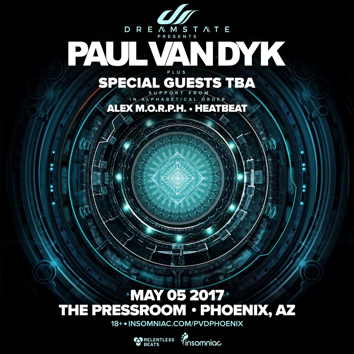 Flyer for Dreamstate presents: Paul van Dyk in Phoenix