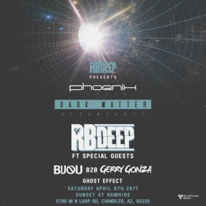 RBDeep Presents Special Guests - Dark Matter on 04/08/17