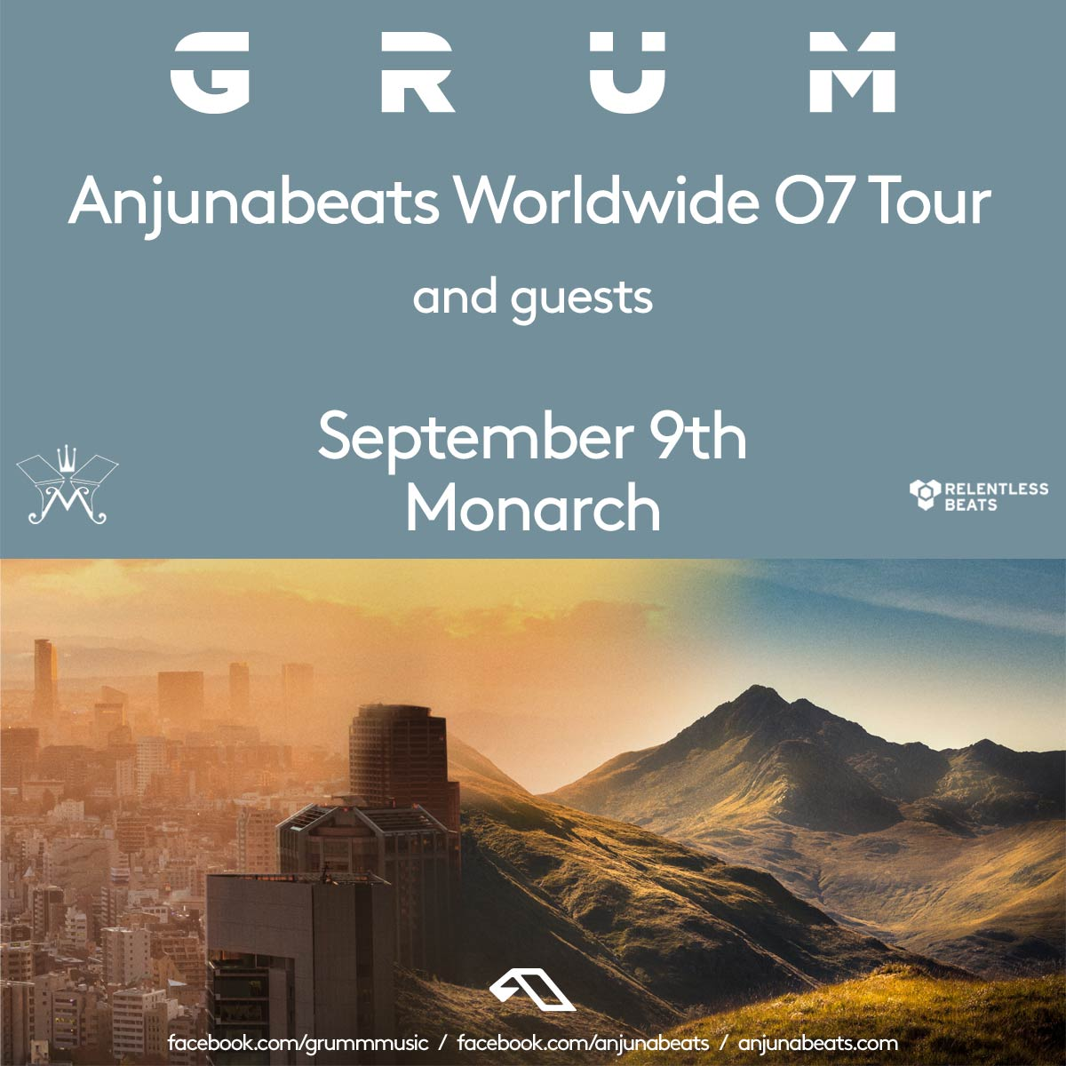 Flyer for Anjunabeats Worldwide 07 Tour ft. Grum
