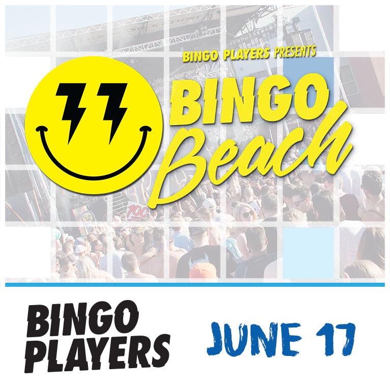 Flyer for Bingo Players present Bingo Beach