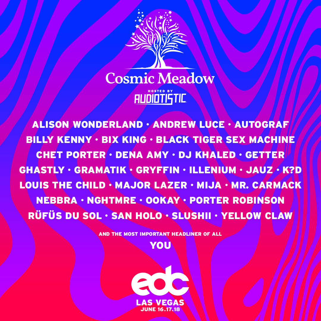 cosmic meadow square lineup roster