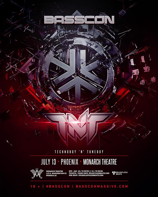 Flyer for Basscon presents TNT - Technoboy 'n' Tuneboy