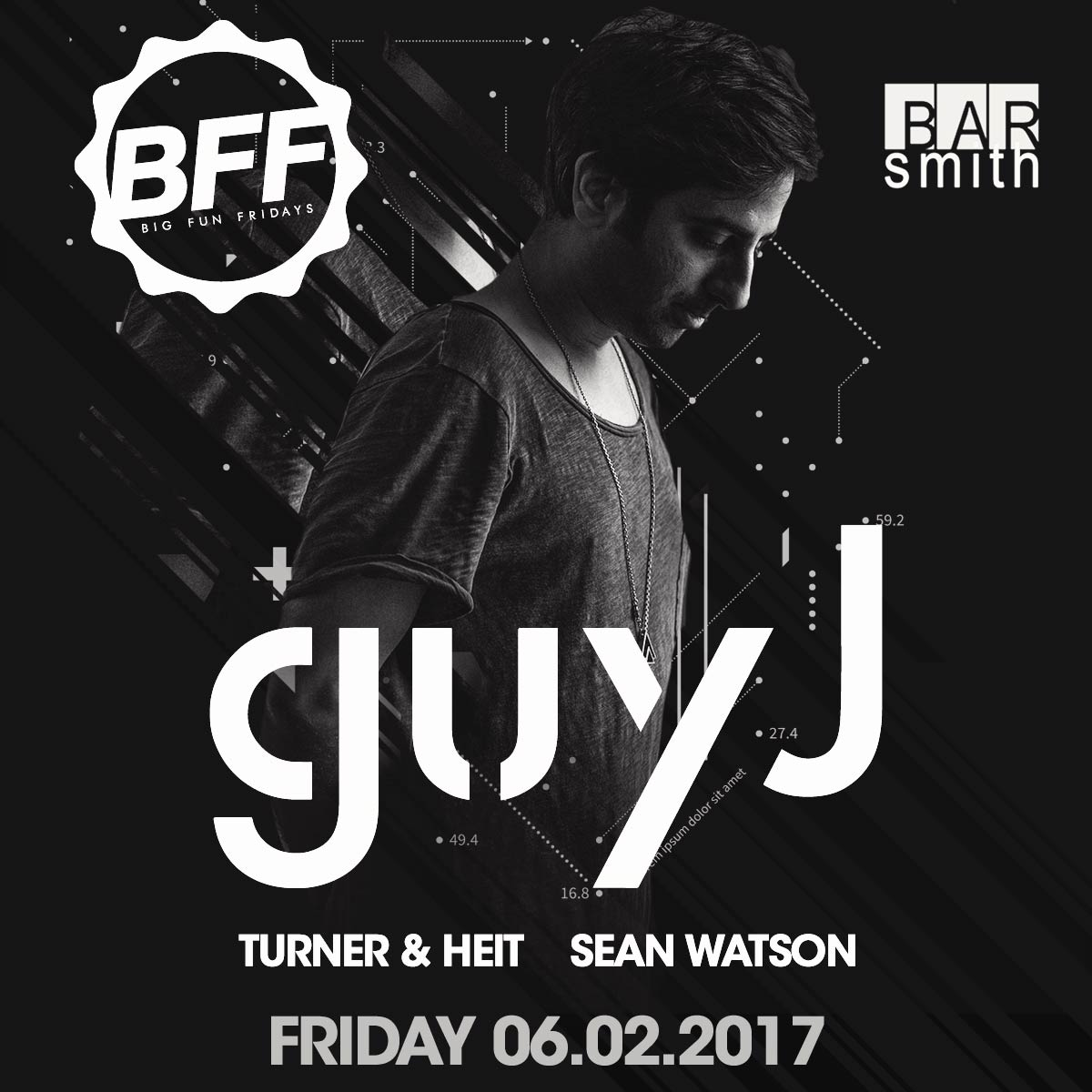 Flyer for Guy J at BFF