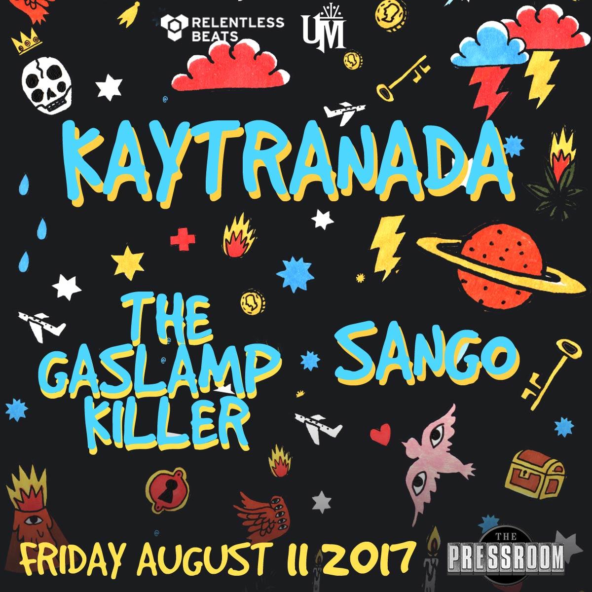 Flyer for Kaytranada + The Gaslamp Killer + Sango