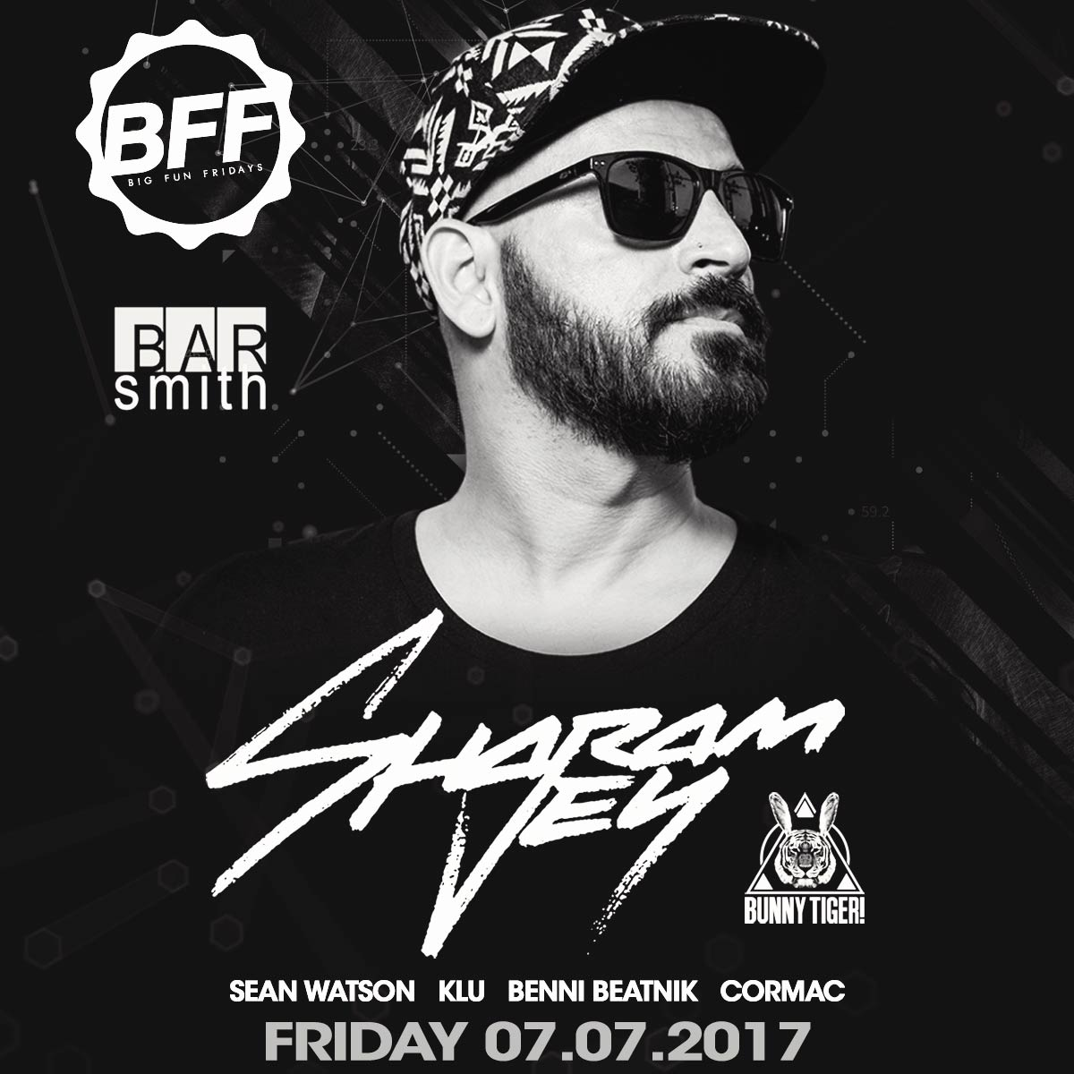 Flyer for Sharam Jey at BFF