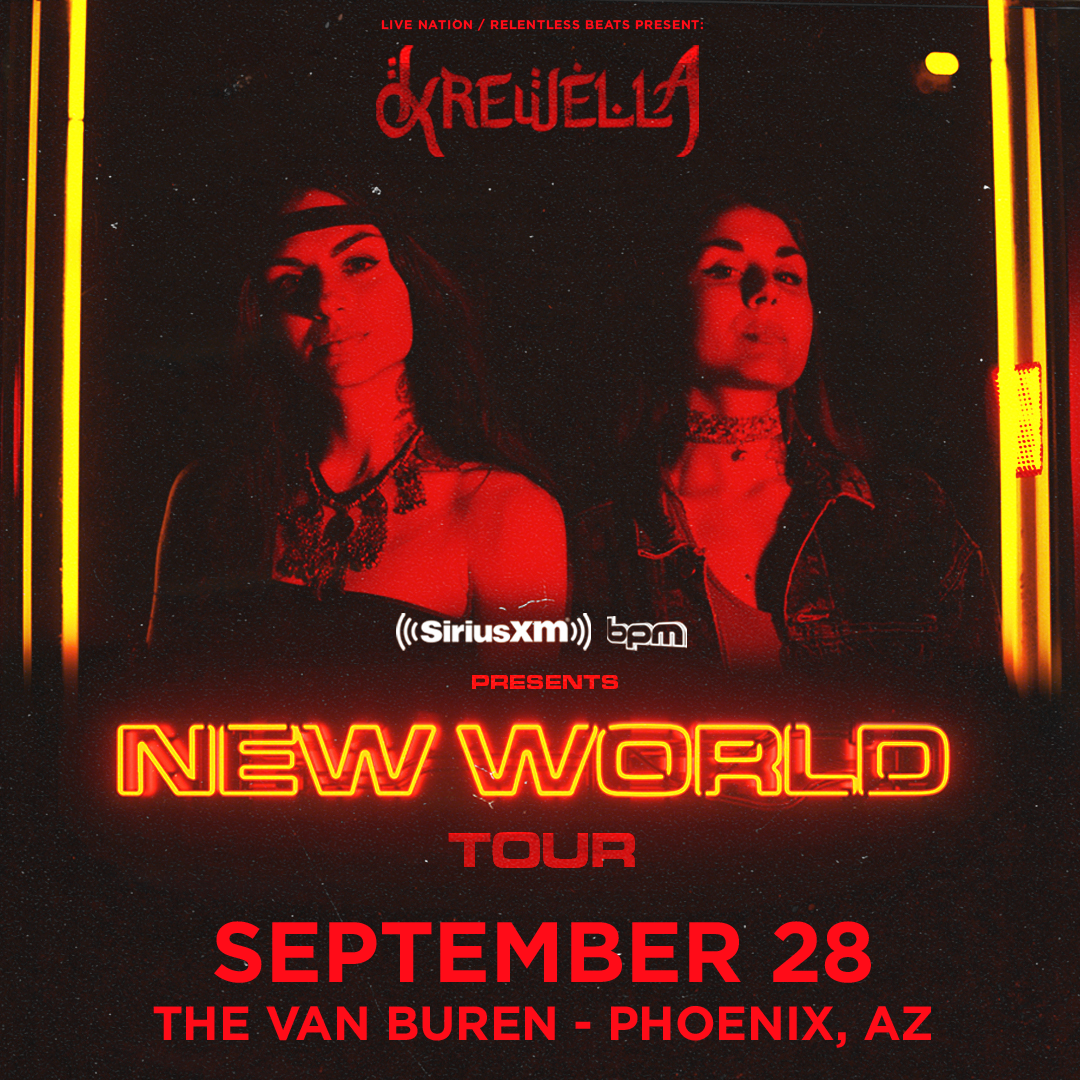 Flyer for Krewella - New World Tour