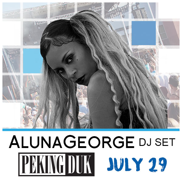 Flyer for AlunaGeorge (DJ Set) + Peking Duk at Release Pool Party