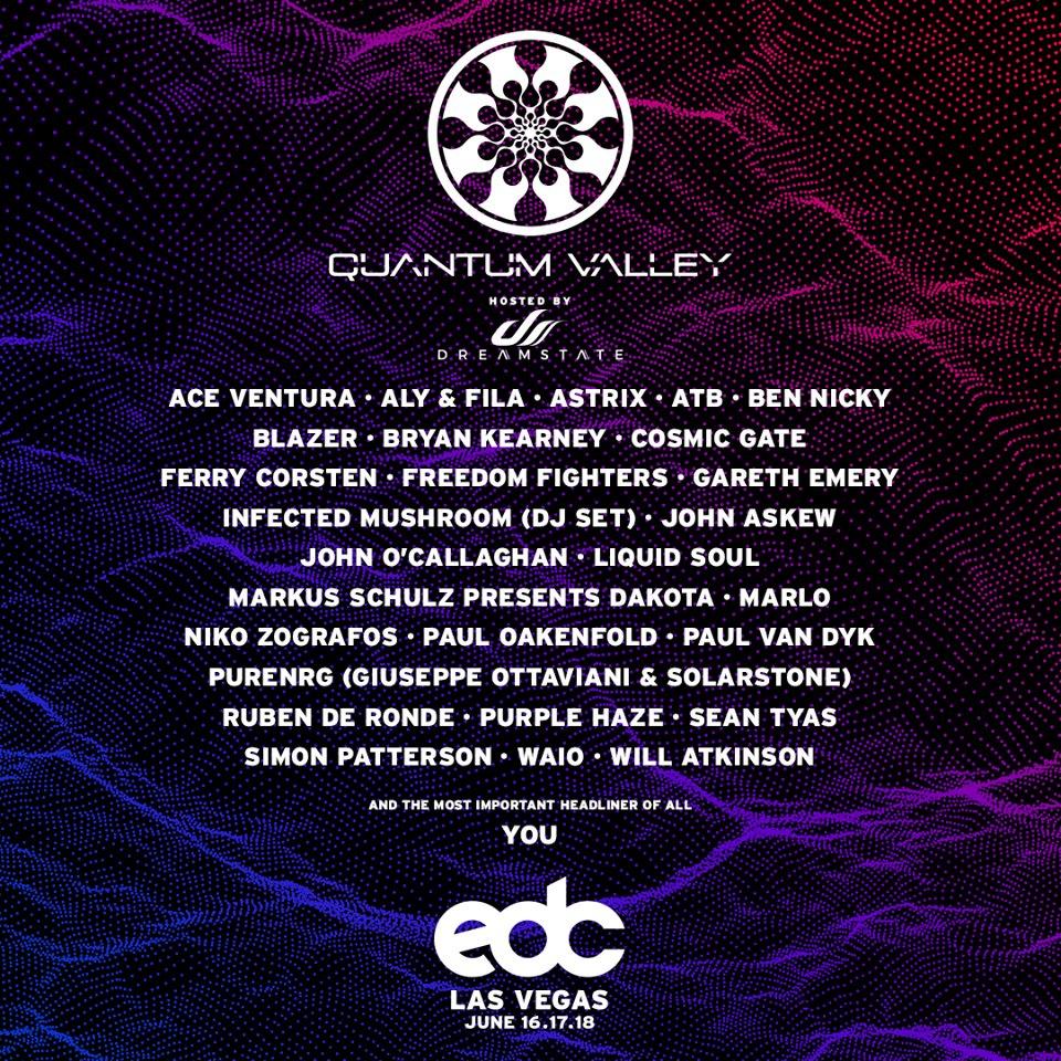 EDC 2017 Quantum Valley Lineup