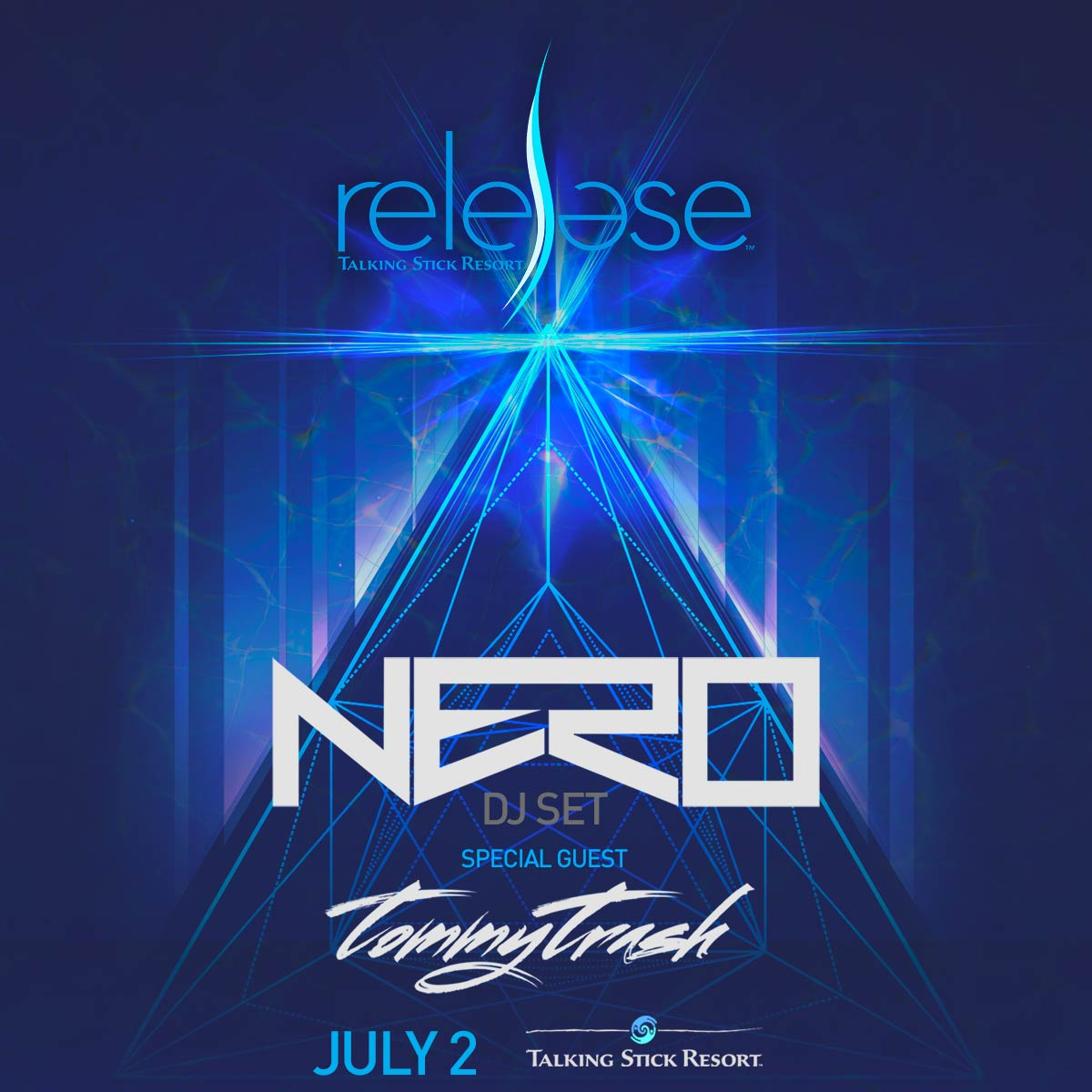 Flyer for Nero + Tommy Trash at Release Pool Party