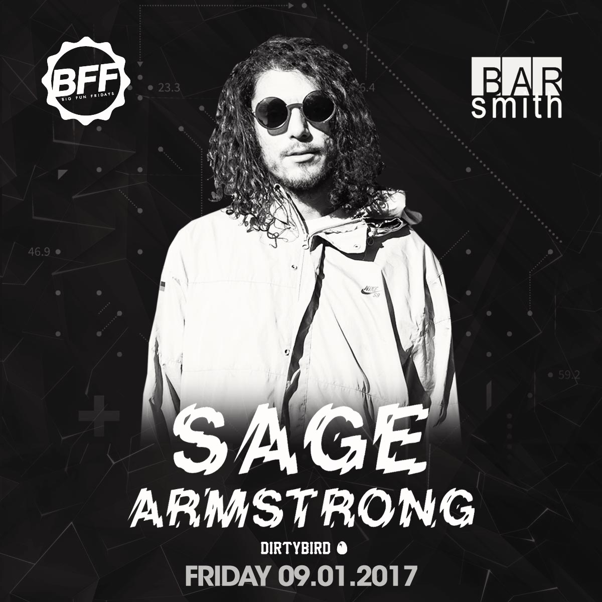 Flyer for Sage Armstrong at BFF
