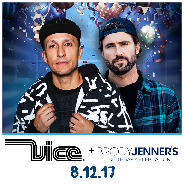 Flyer for Vice + Brody Jenner's Birthday Celebration at Release Pool Party