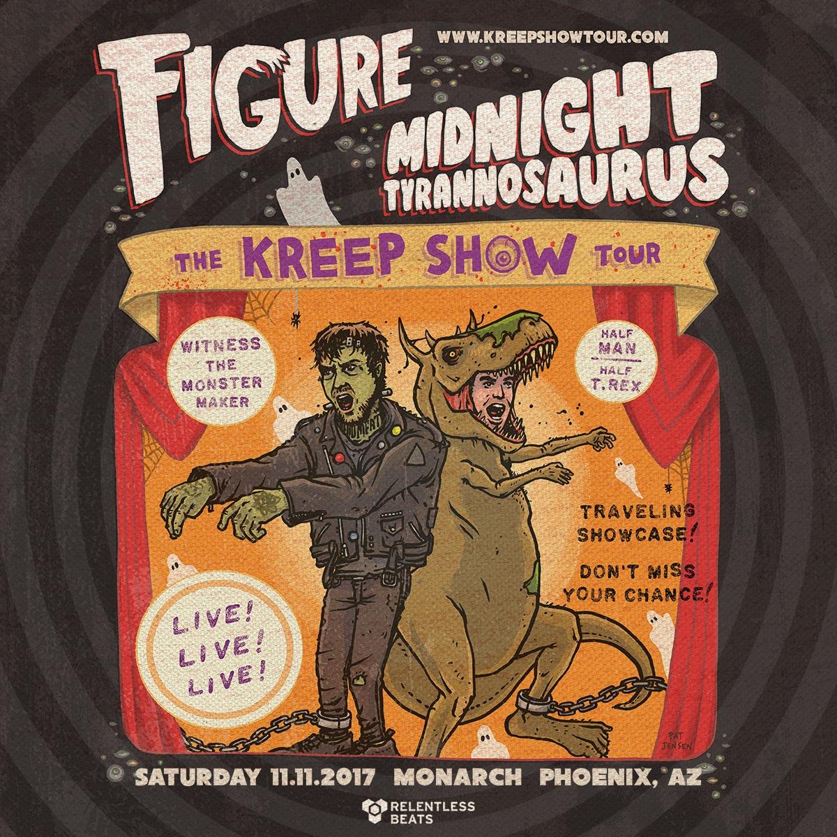 Flyer for Figure + Midnight Tyrannosaurus