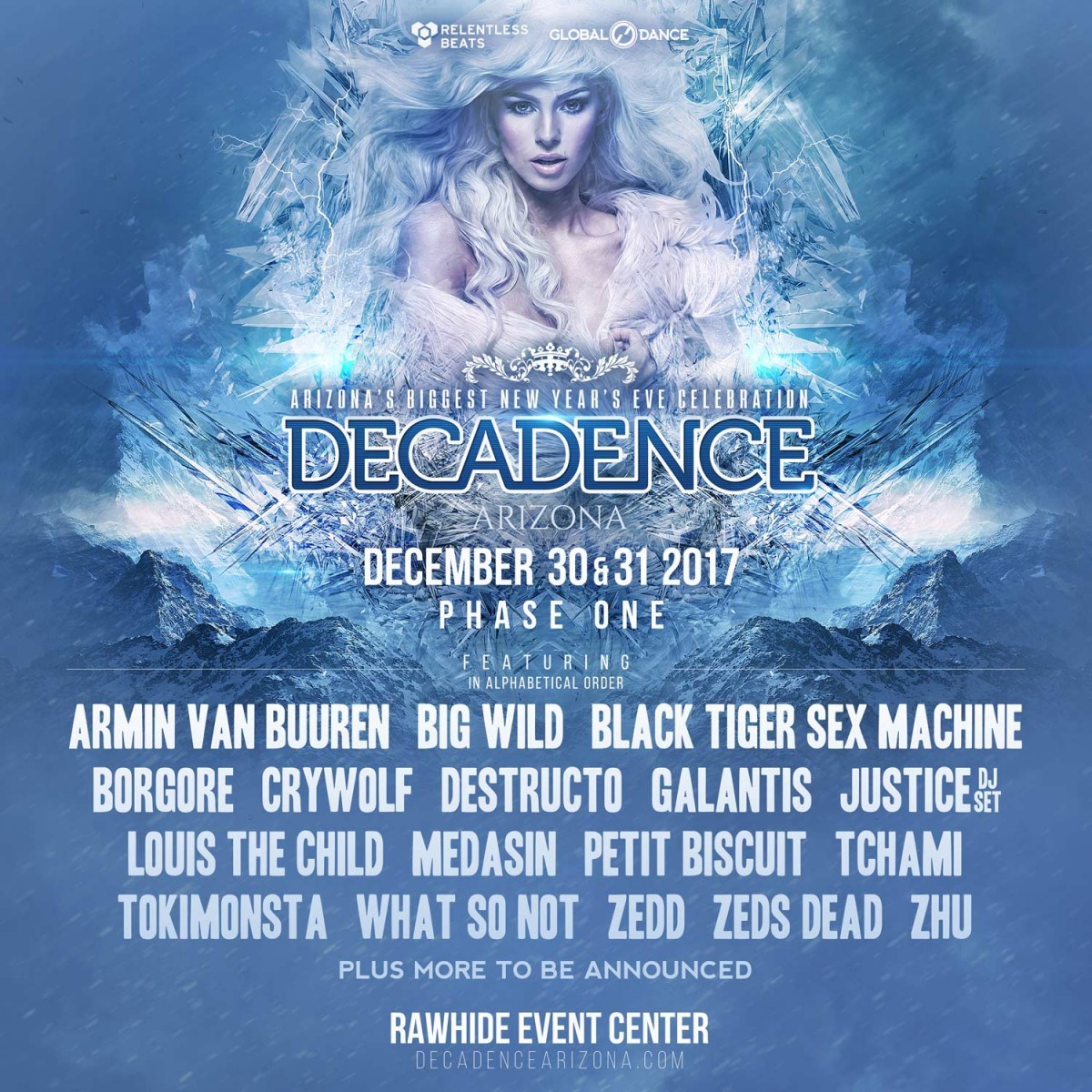 Flyer for Decadence Arizona 2017