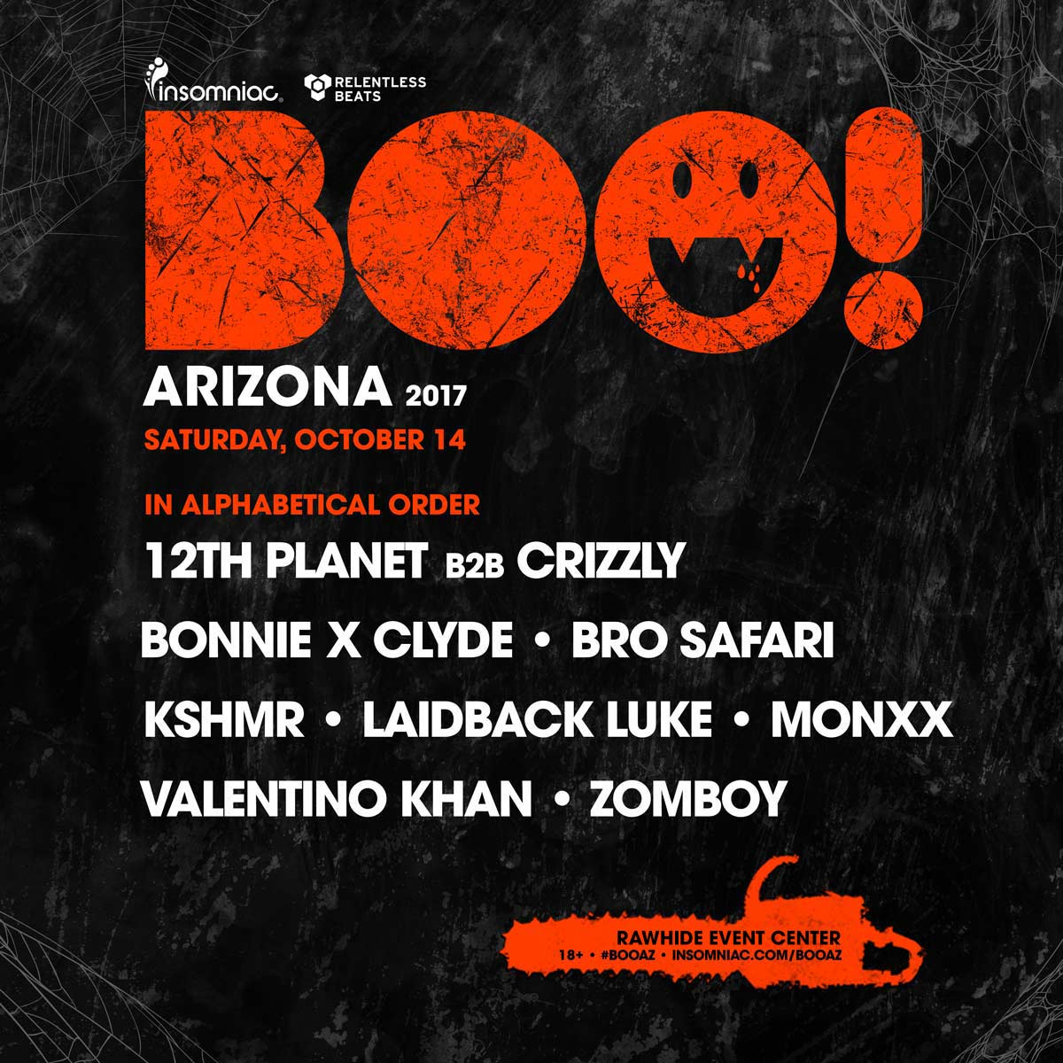 Flyer for BOO! Arizona 2017