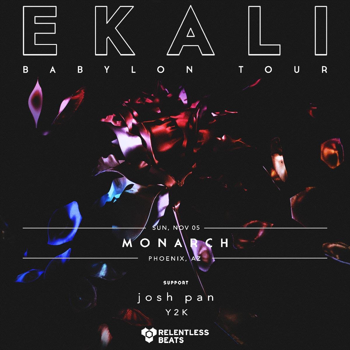 Flyer for Ekali - Babylon Tour