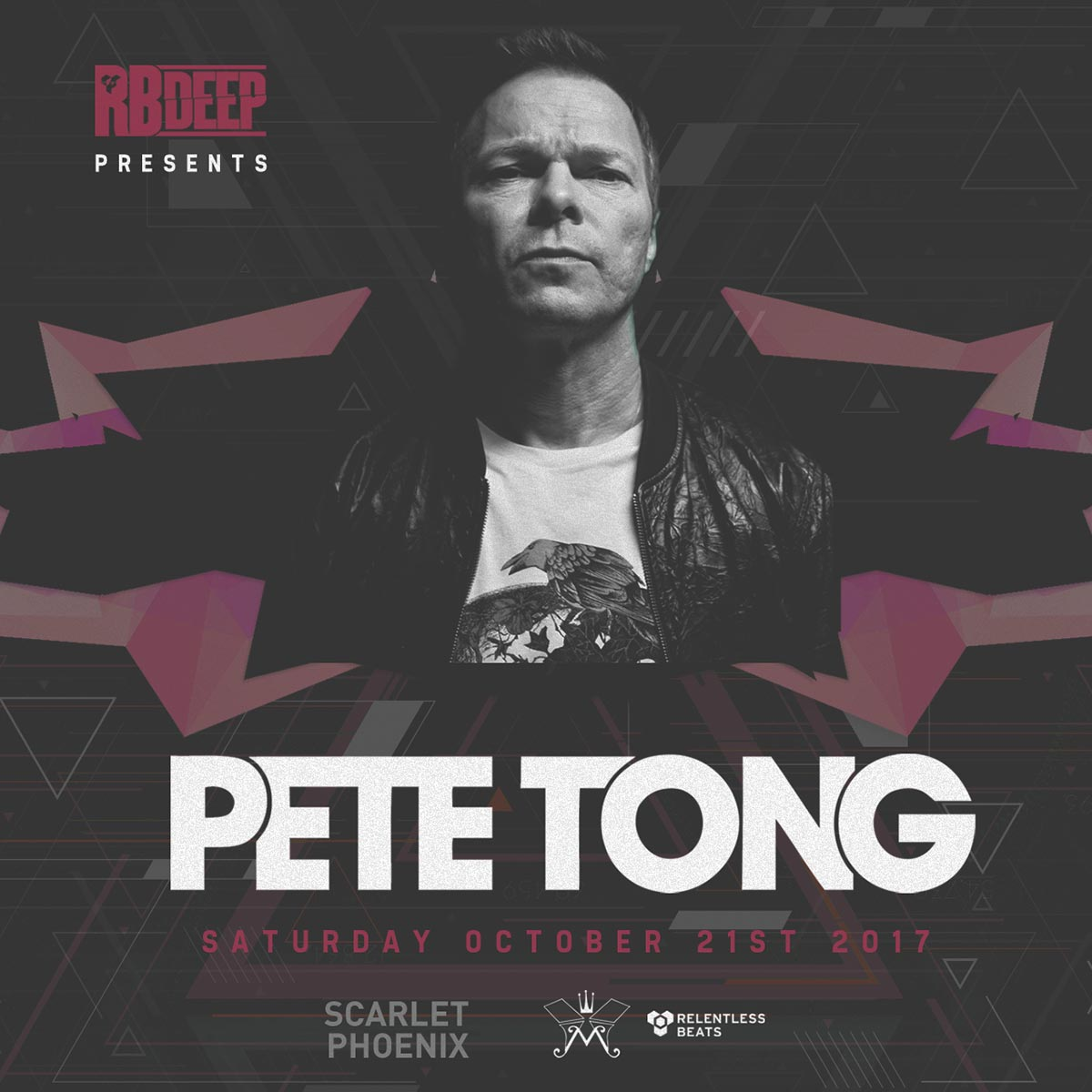 Flyer for Pete Tong at RBDeep