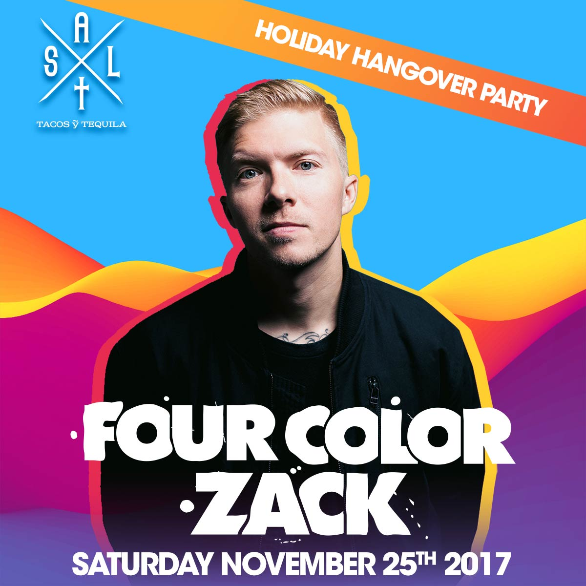 Flyer for Four Color Zack
