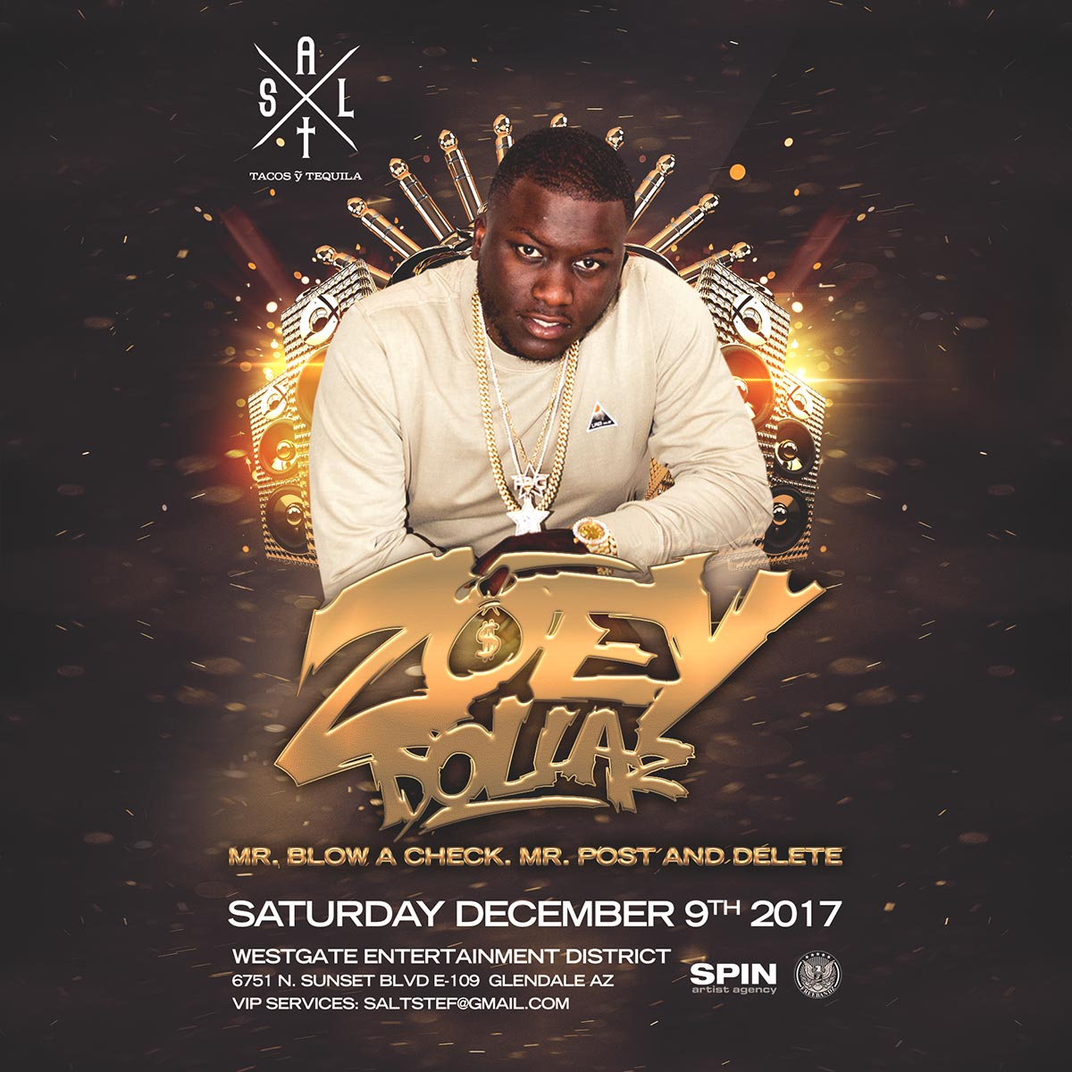 Flyer for Zoey Dollaz