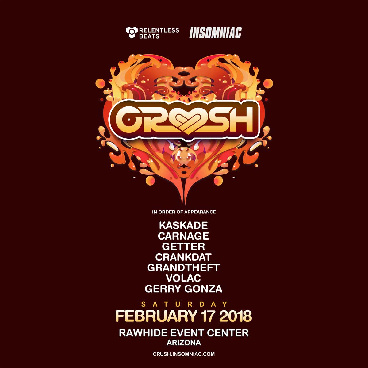 Flyer for Crush Arizona 2018