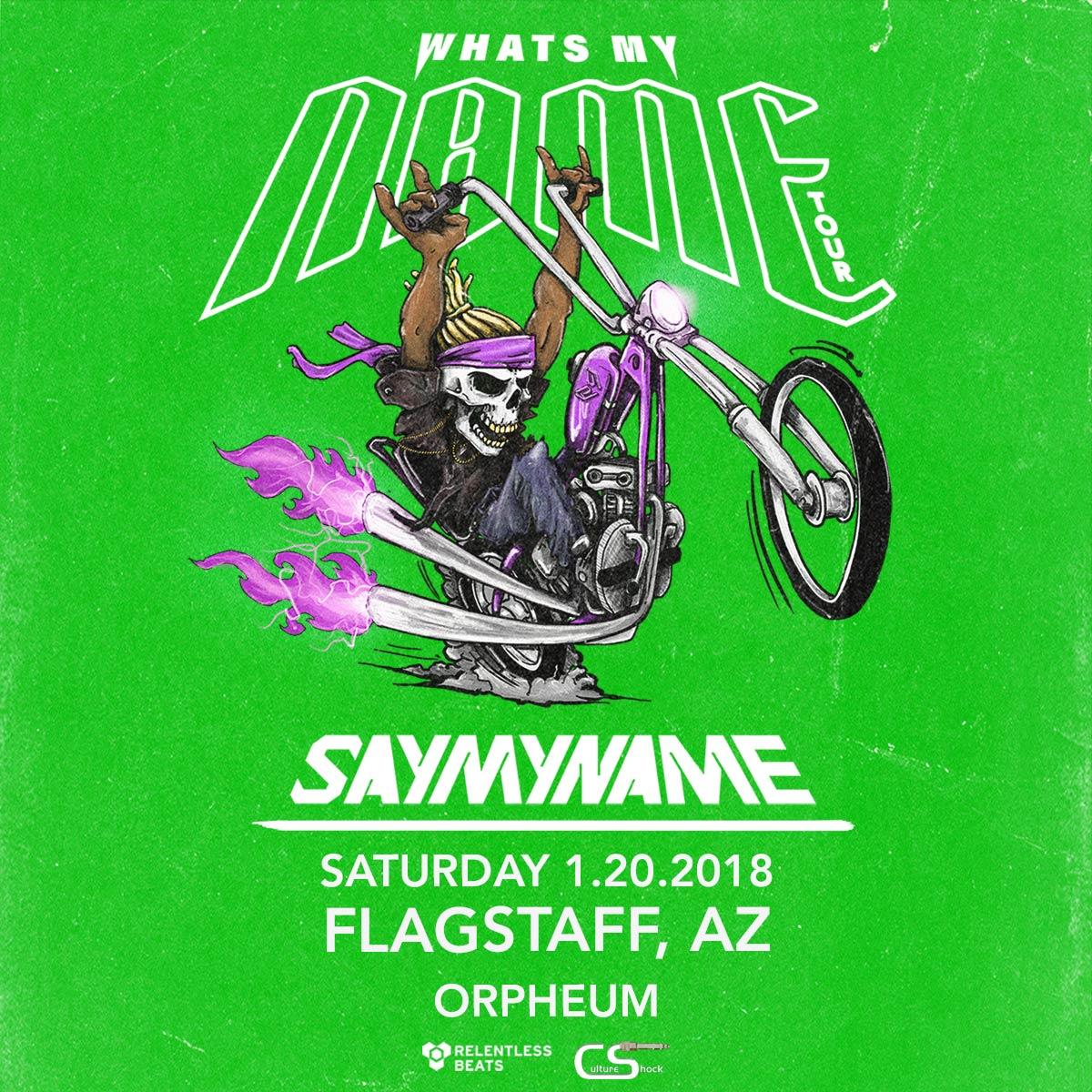 Flyer for SayMyName - Flagstaff