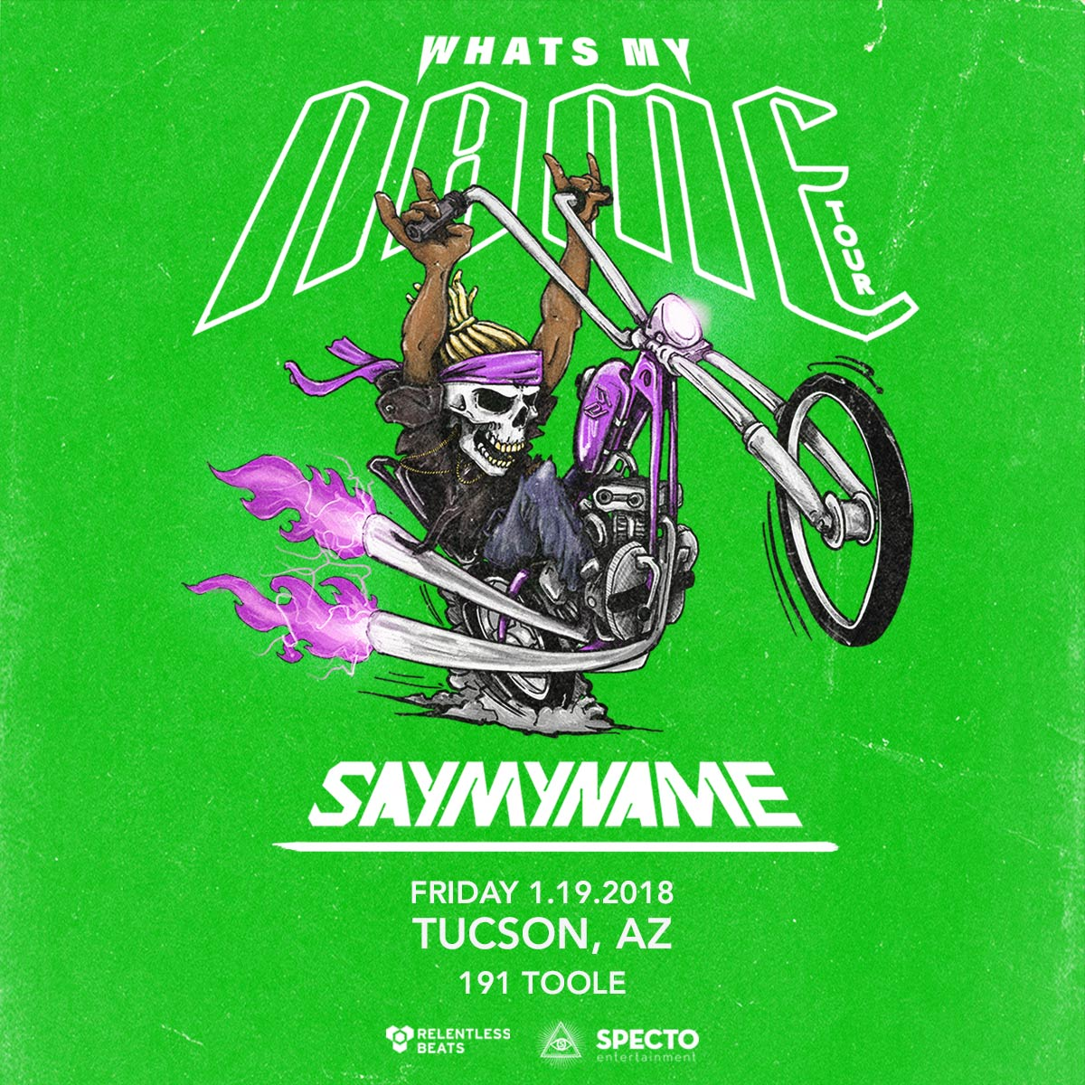 Flyer for SayMyName - Tucson