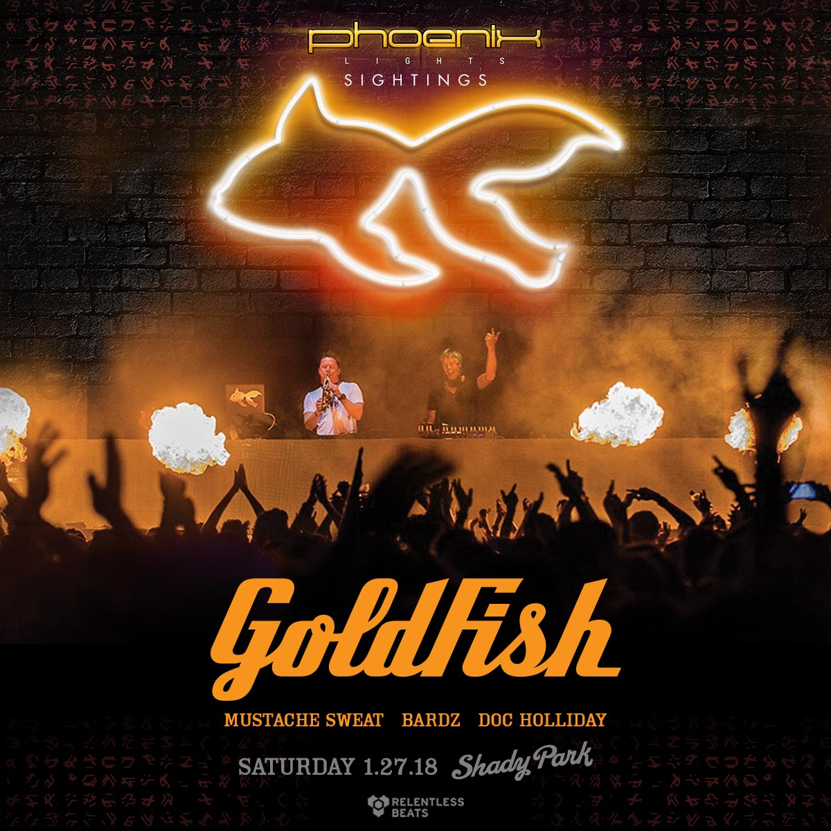 Flyer for GoldFish - Sightings: On the Road to Phoenix Lights