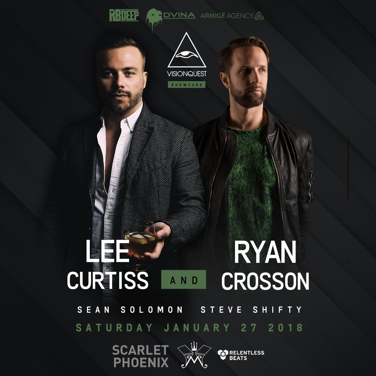 Flyer for Lee Curtiss & Ryan Crosson